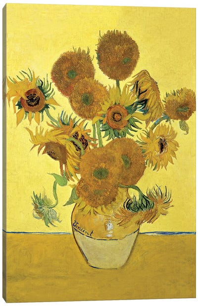 Sunflowers (Fourth Version), 1888  Canvas Art Print