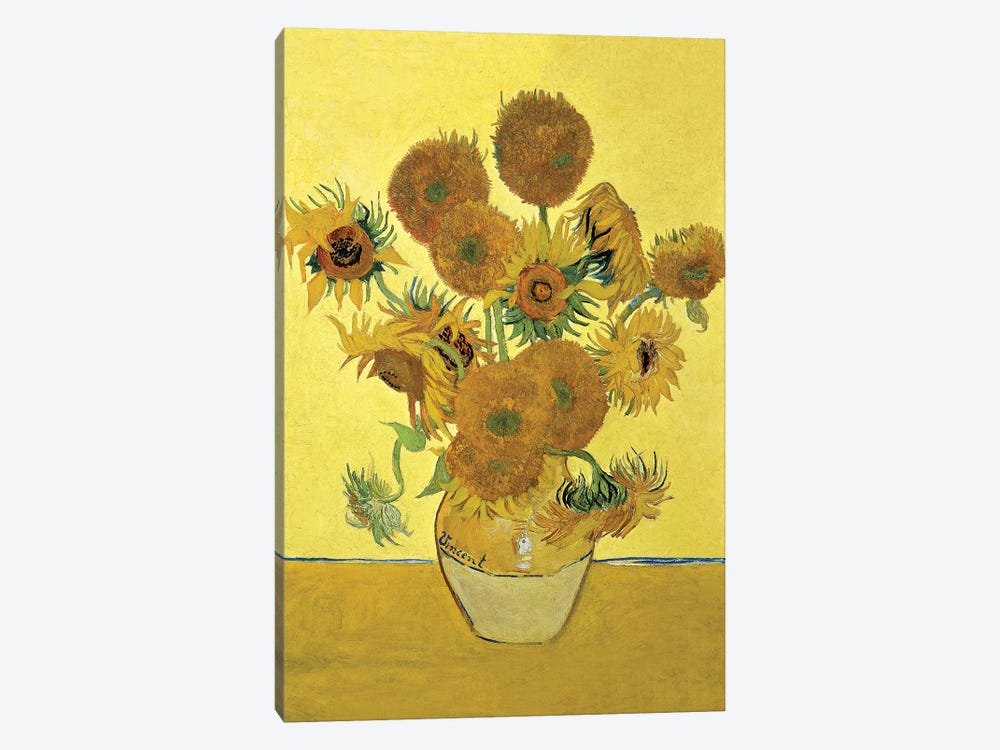 Sunflowers (Fourth Version), 1888  by Vincent van Gogh 1-piece Canvas Wall Art