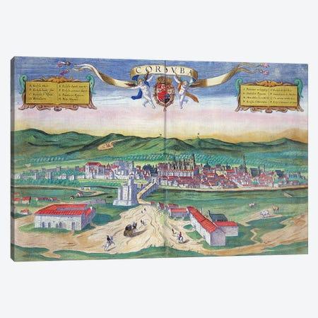 Map of Cordoba, from 'Civitates Orbis Terrarum' by Georg Braun  Canvas Print #BMN1832} by Joris Hoefnagel Art Print