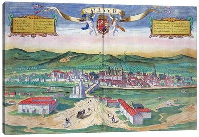 Map of Cordoba, from 'Civitates Orbis Terrarum' by Georg Braun  Canvas Art Print