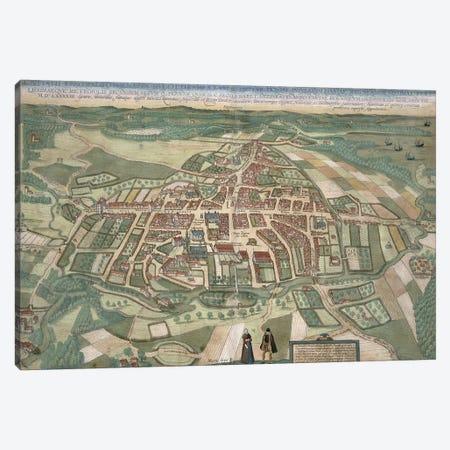 Map of Odense, from 'Civitates Orbis Terrarum' by Georg Braun  Canvas Print #BMN1835} by Joris Hoefnagel Canvas Art