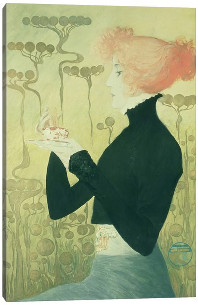 Portrait of Sarah Bernhardt Canvas Art Print