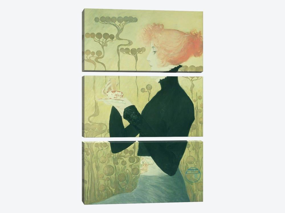Portrait of Sarah Bernhardt by Manuel Orazi 3-piece Canvas Art