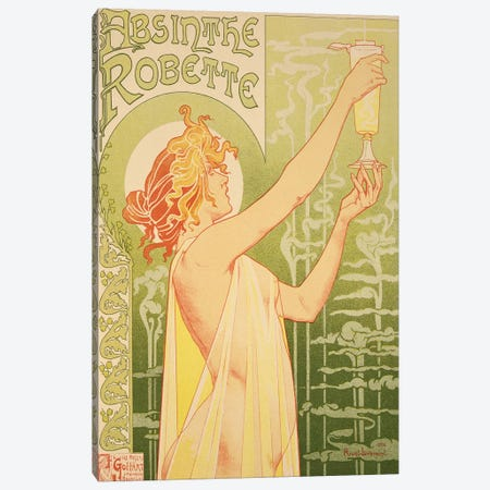 Reproduction of a poster advertising 'Robette Absinthe', 1896  Canvas Print #BMN1861} by Henri Privat-Livemont Canvas Wall Art