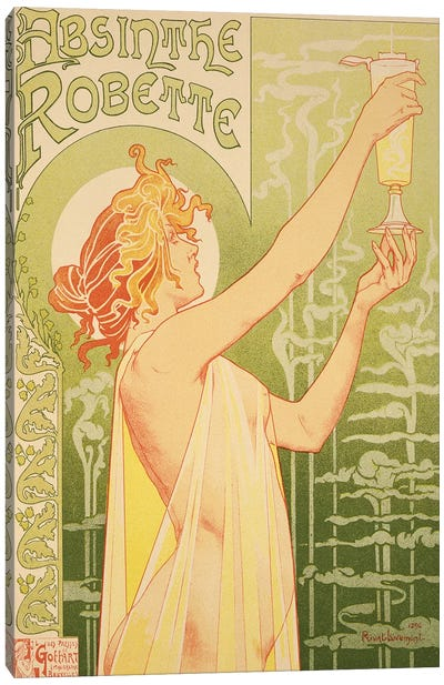 Reproduction of a poster advertising 'Robette Absinthe', 1896  Canvas Art Print