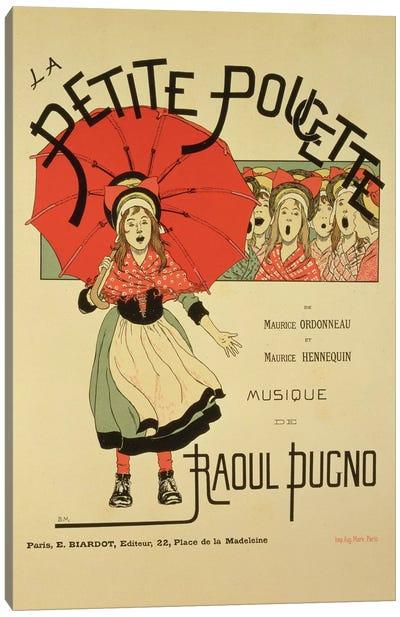 La Petite Poucette Vintage Operetta Advertisement Canvas Art Print