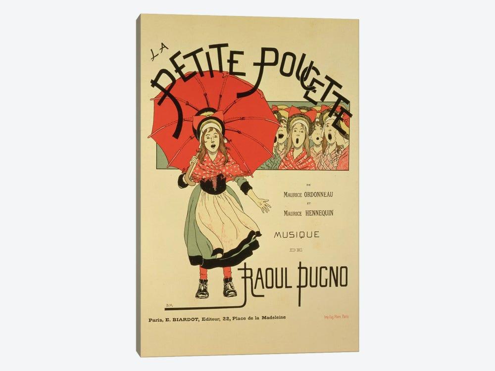 La Petite Poucette Vintage Operetta Advertisement by Louis Maurice Boutet de Monvel 1-piece Canvas Wall Art