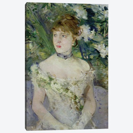 Young girl in a ball gown, 1879  Canvas Print #BMN1865} by Berthe Morisot Canvas Art Print
