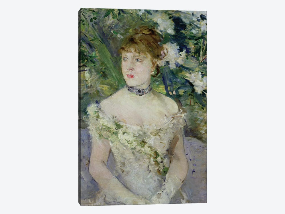 Young girl in a ball gown, 1879  by Berthe Morisot 1-piece Canvas Art Print