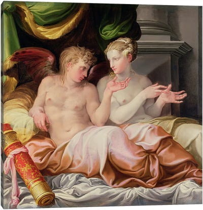 Eros and Psyche, 16th century  Canvas Art Print