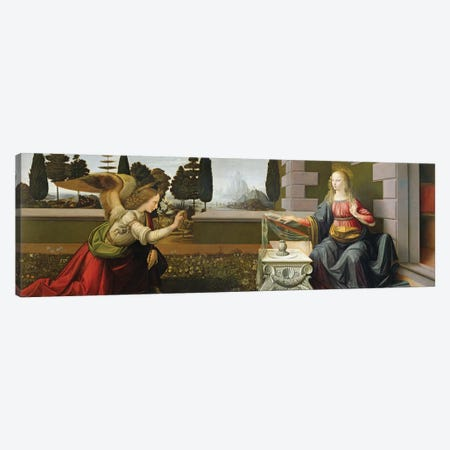 Annunciation, 1472-75   Canvas Print #BMN1868} by Leonardo da Vinci Canvas Artwork