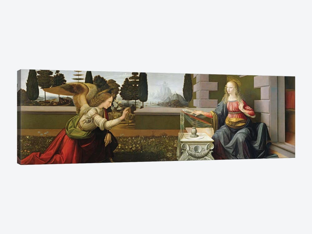 Annunciation, 1472-75   by Leonardo da Vinci 1-piece Canvas Art
