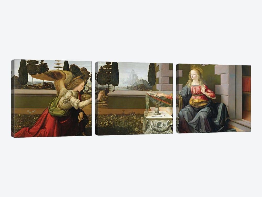 Annunciation, 1472-75   by Leonardo da Vinci 3-piece Canvas Artwork