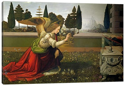Angel Gabriel, from the Annunciation, 1472-75   Canvas Print #BMN1869