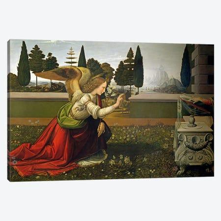 Angel Gabriel, from the Annunciation, 1472-75   Canvas Print #BMN1869} by Leonardo da Vinci Canvas Artwork