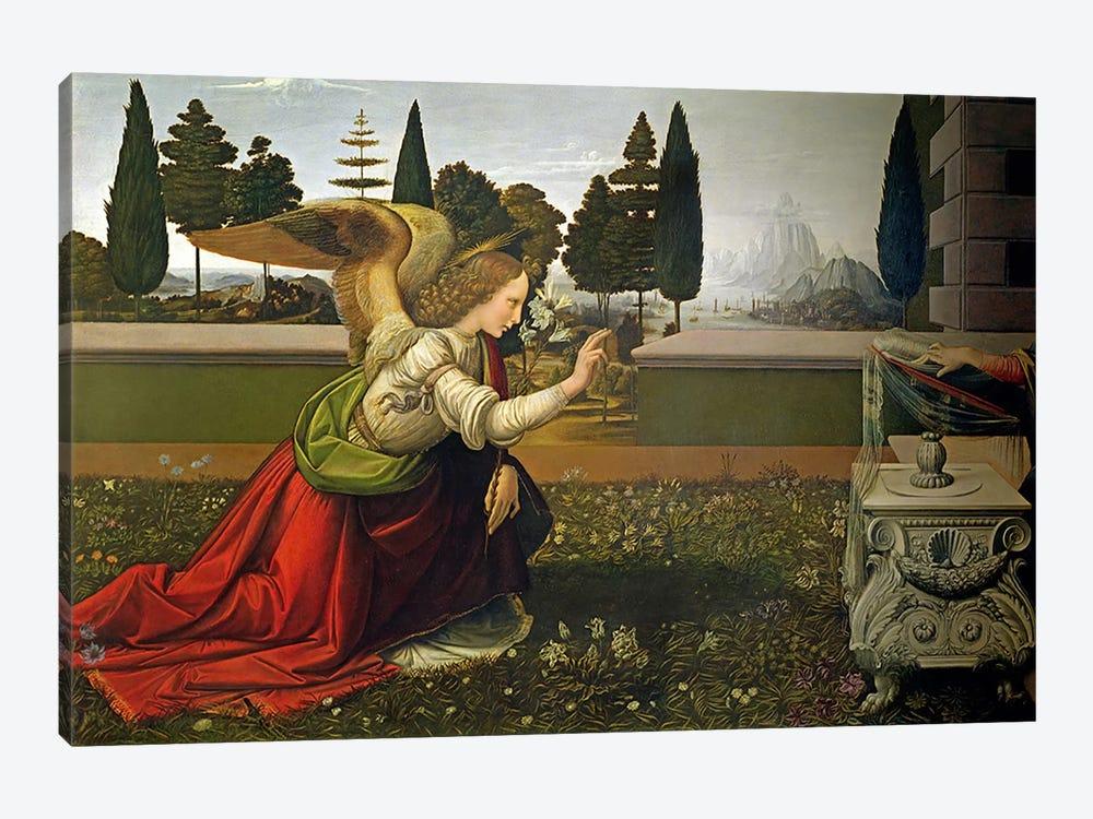 Angel Gabriel, from the Annunciation, 1472-75   by Leonardo da Vinci 1-piece Canvas Art Print