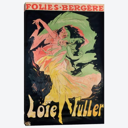 Folies Bergere: Loie Fuller, France, 1897 Canvas Print #BMN186} by Jules Cheret Canvas Wall Art