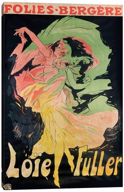 Folies Bergere: Loie Fuller, France, 1897 Canvas Art Print