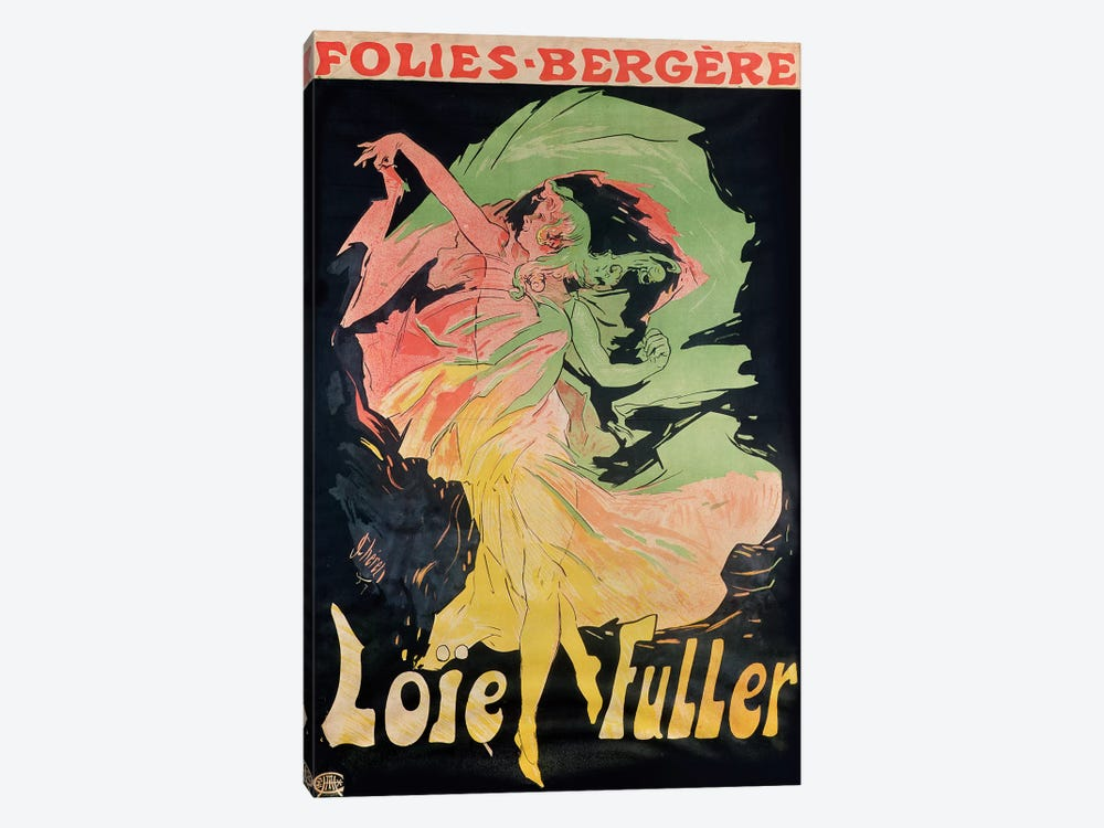 Folies Bergere: Loie Fuller, France, 1897 by Jules Cheret 1-piece Canvas Wall Art
