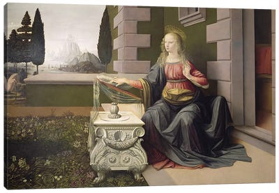 Virgin Mary, from the Annunciation, 1472-75   Canvas Print #BMN1870