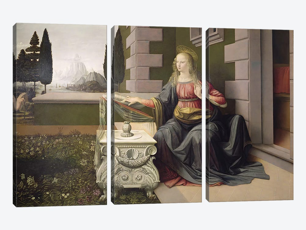 Virgin Mary, from the Annunciation, 1472-75   3-piece Art Print