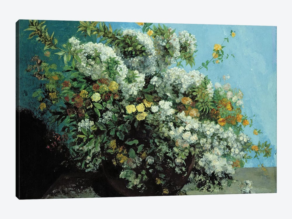 Flowering Branches and Flowers, 1855  by Gustave Courbet 1-piece Canvas Artwork