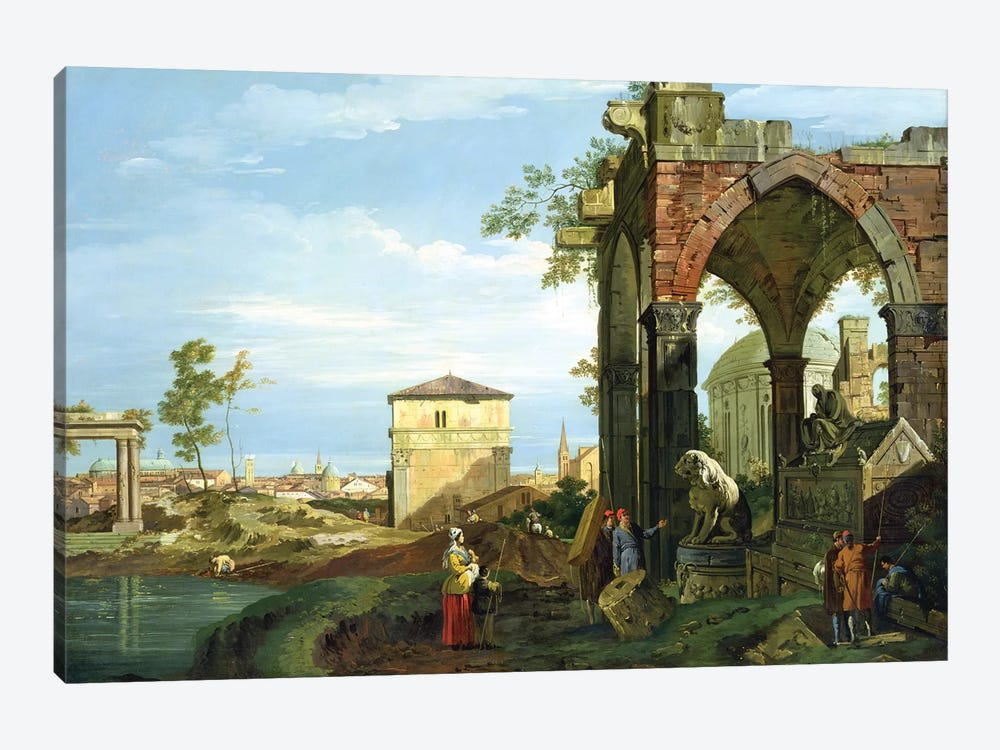 Capriccio with Motifs from Padua, c.1756   by Canaletto 1-piece Canvas Wall Art