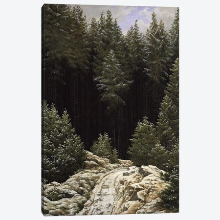 Early Snow, c.1828  Canvas Print #BMN1876} by Caspar David Friedrich Canvas Wall Art