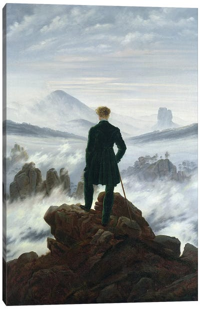 The Wanderer above the Sea of Fog, 1818  Canvas Art Print