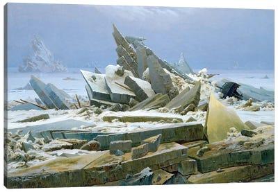 The Polar Sea, 1824  Canvas Art Print