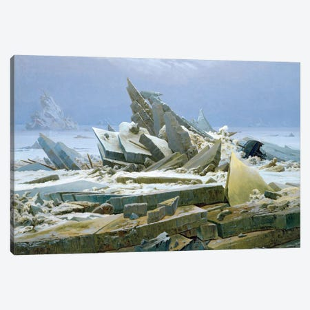 The Polar Sea, 1824  Canvas Print #BMN1878} by Caspar David Friedrich Canvas Print