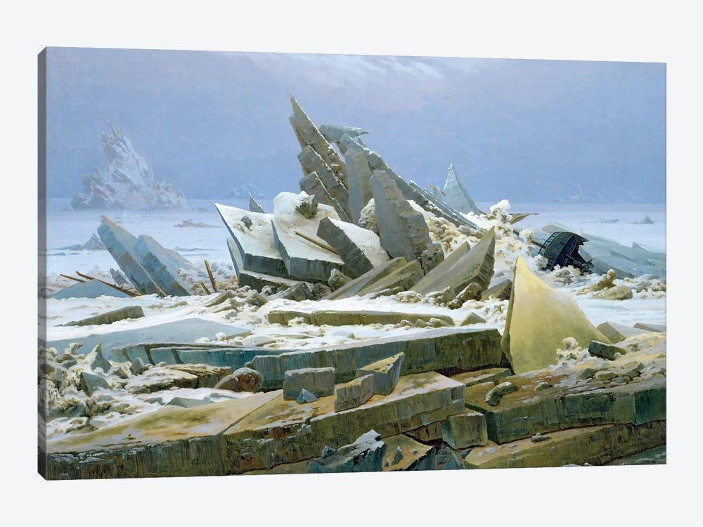 The Polar Sea, 1824  by Caspar David Friedrich 1-piece Art Print