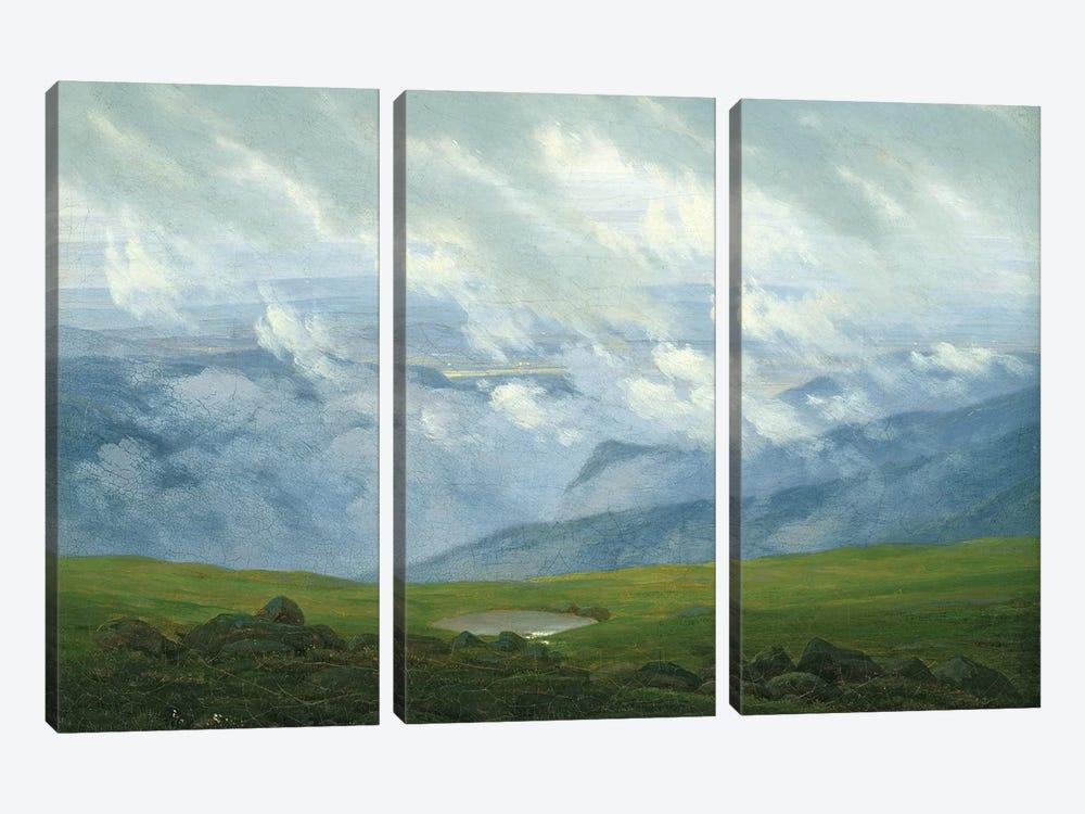 Drifting Clouds  by Caspar David Friedrich 3-piece Canvas Wall Art