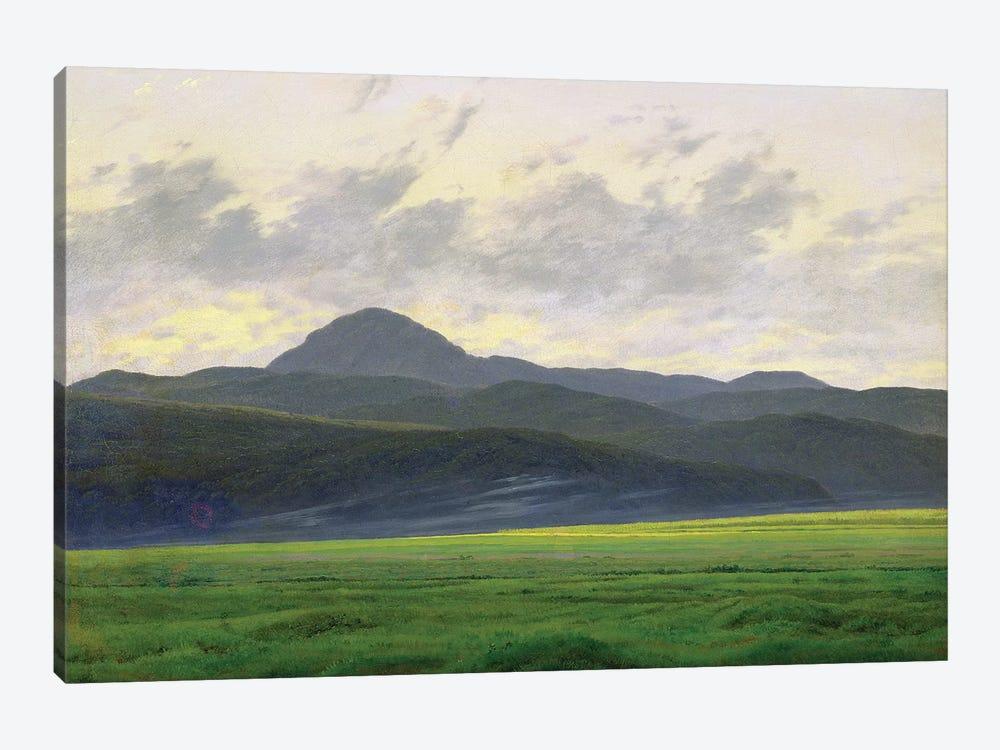 Mountainous landscape  by Caspar David Friedrich 1-piece Canvas Artwork