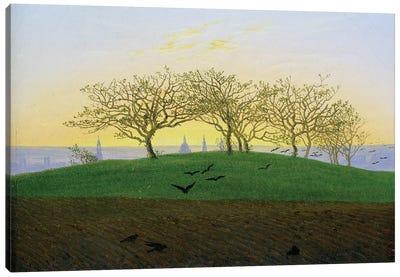 Hills and Ploughed Fields near Dresden  Canvas Art Print