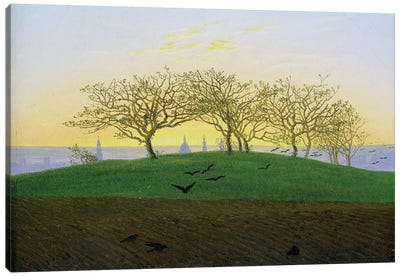 Hills and Ploughed Fields near Dresden  Canvas Art Print