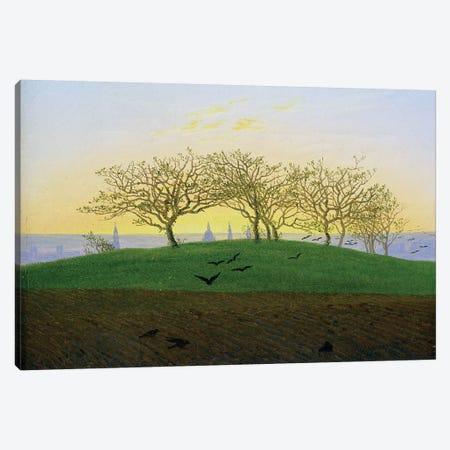 Hills and Ploughed Fields near Dresden  Canvas Print #BMN1881} by Caspar David Friedrich Canvas Art