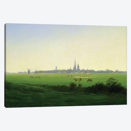 Meadows near Greifswald  Canvas Print #BMN1882} by Caspar David Friedrich Canvas Art