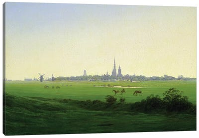 Meadows near Greifswald  Canvas Art Print