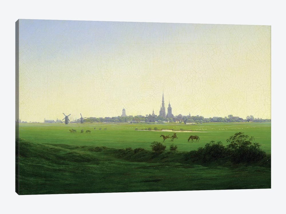 Meadows near Greifswald  by Caspar David Friedrich 1-piece Canvas Artwork