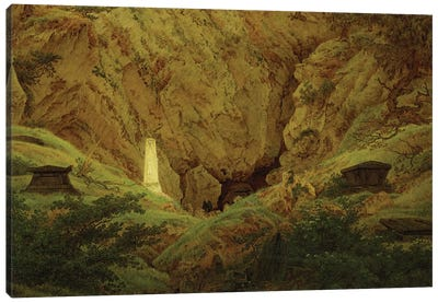 Graves of Ancient Heroes, 1812  Canvas Art Print