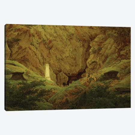 Graves of Ancient Heroes, 1812  Canvas Print #BMN1883} by Caspar David Friedrich Canvas Wall Art