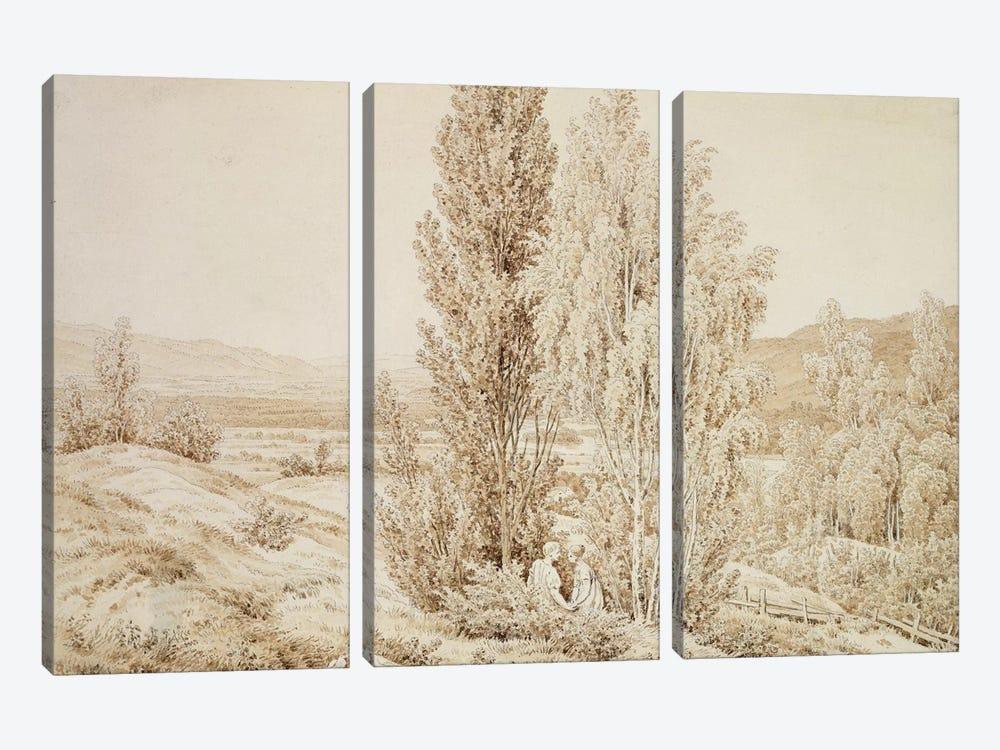Summer  by Caspar David Friedrich 3-piece Canvas Art