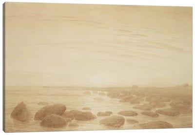 Moonrise on the Sea  Canvas Art Print