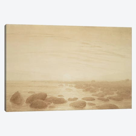 Moonrise on the Sea  Canvas Print #BMN1885} by Caspar David Friedrich Canvas Print