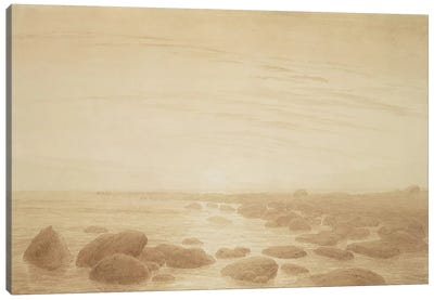 Moonrise on the Sea by Caspar David Friedrich Canvas Print