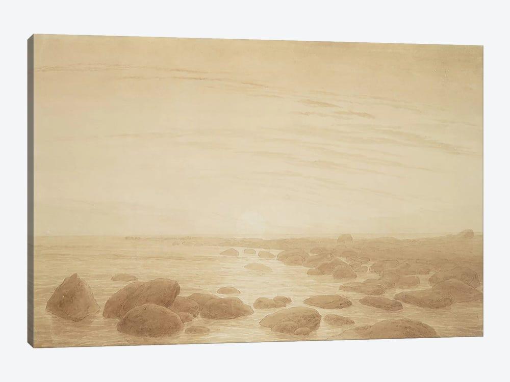 Moonrise on the Sea  by Caspar David Friedrich 1-piece Canvas Art Print