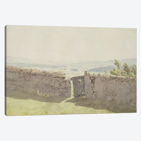 Gate in the Garden Wall  Canvas Print #BMN1887} by Caspar David Friedrich Art Print