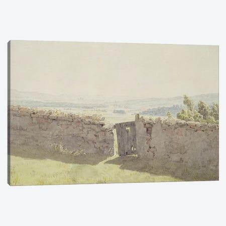 Gate in the Garden Wall  Canvas Print #BMN1887} by Caspar David Friedrich Art Print
