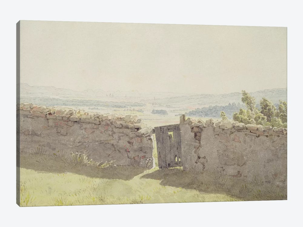 Gate in the Garden Wall  by Caspar David Friedrich 1-piece Canvas Print